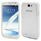 Protective Bumper Frame Case for Samsung Galaxy Note 2 N7100 - White + Transparent