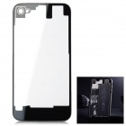 Clear Plastic Battery Back Cover for iPhone 4S - Black