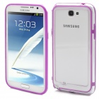 Protective Bumper Frame Case for Samsung Galaxy Note 2 N7100 - Purple + Transparent