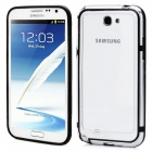 Protective Bumper Frame Case for Samsung Galaxy Note 2 N7100 - Black + Transparent
