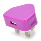 Mini 1A USB Power Adapter / Charger - Purple (100~240V / UK Plug)