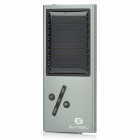 Solar Powered MP3 Music Player with FM / TF / USB / LED Indicator - Silver Grey + Black