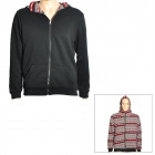 Fashionable Double Face Reversible Hooded Jacket - Black (Size L)