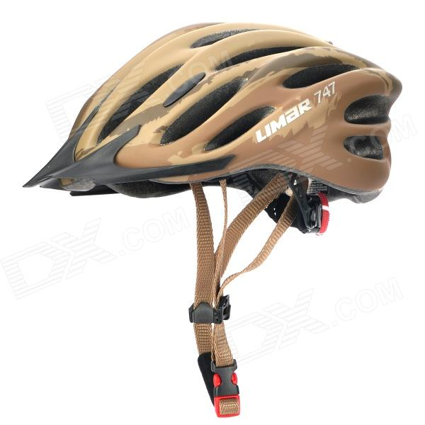 LIMAR 747 Cycling Road Bike PC + EPS Helmet w/ Insert Net + Dial Clockwise - Coffee + Brown mtb bicycle helmet safety adult mountain road bike helmets casco ciclismo man women cycling helmet 1x helmet and 1xgoggles