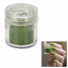 BK BK-00 Flocking Velvet Manicure Art Polish Nail Powder - Forestgreen