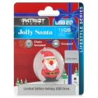 Patriot Santa Claus Style USB 2.0 Flash Drive - Red + Black (16GB)