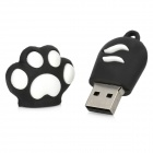 MUP16F Dog Uña de estilo USB 2.0 Flash Drive - Negro + Blanco (16 GB)