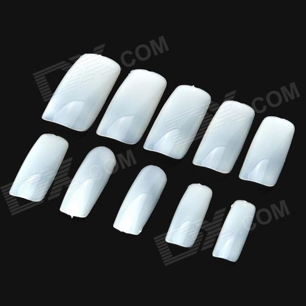BK3510 500-in-1 Full Blank ABS Artificial Nail Set - White (10 x 50)