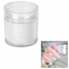 BK BK-03 Flocking Velvet Manicure Art Polish Nail Powder - White