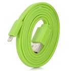 100cm Green Flat Lightning USB Cable