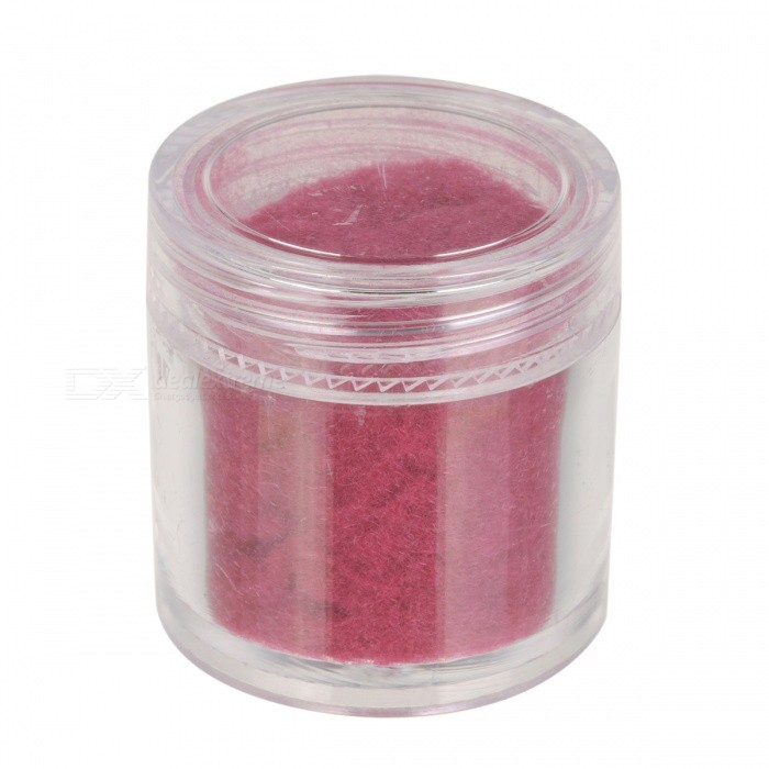 BK BK-14 Flocking Velvet Manicure Art Polish Nail Powder - Deep Pink