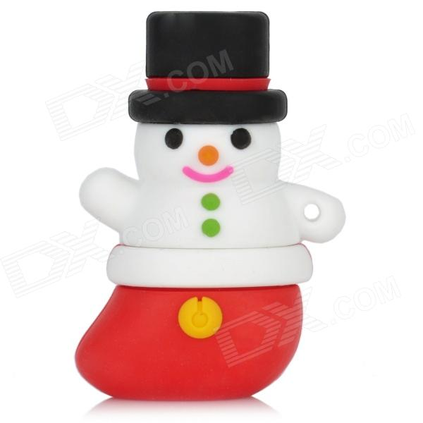 Patriot Snowman Style USB 2.0 Flash Drive - White + Red (8GB)