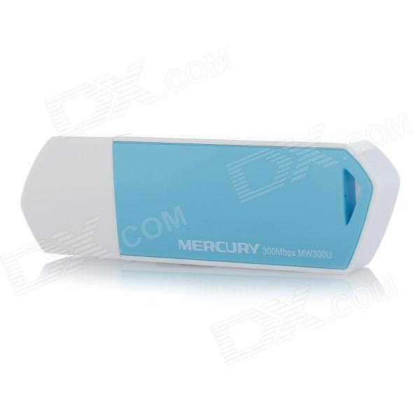 Mercury MW300U 300Mbps 802.11 a/b/g/n USB Wireless Network Adapter w/ Soft AP - White + Blue