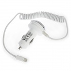 Car Cigarette Powered Charging Adapter Charger for iPhone 5 - White