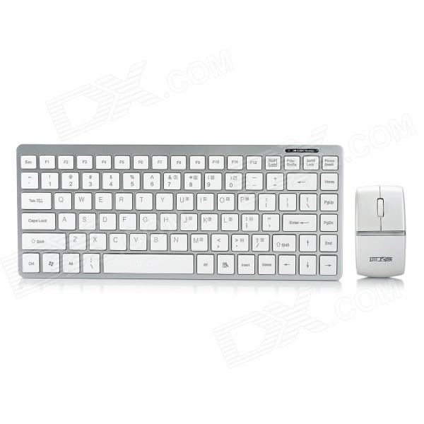 E-8032 87-Key Wireless Keyboard w/ 1600cpi Mouse - Silver