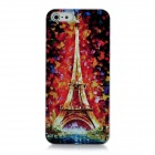 XK-cooku XK5-010 Embossed Eiffel Tower Pattern Plastic Case for Iphone 5