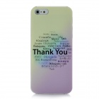 XK-cooku XK5-001 Embossed Thank You Pattern Protective Plastic Case for Iphone 5