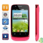 "N808i Android 4.0 GSM Bar Phone w/ 3.5"" Capacitive Screen, Quad-Band, Wi-Fi and Dual-SIM - Red"