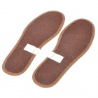 Deodorization Warm Cool Bamboo Charcoal + Flax Insole - Brown + Beige (Size 36 / Pair)