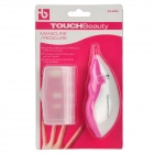 TOCUHBEAUTY AS-602 Electric 5-in-1 Plastic Nail Manicure Tool Set - Deep Pink + White (2 x AAA)