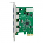 IOCREST PCEEJ188-4U 5Gbps 4-Port USB3.0 Desktop PC PCI-E Card Adapter - Green