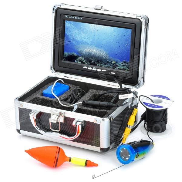 "GSY7000 7"" Color TFT Underwater Fish Finder Video Camera Monitor Standard Set w/ 15m Cable �C Black"