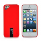 Protective Plastic Case with Built-in 8GB U Disk for iPhone 5 - Red