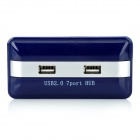 LH063 7-Port USB 2.0 Hub w/ Charging Adapter - Deep Blue