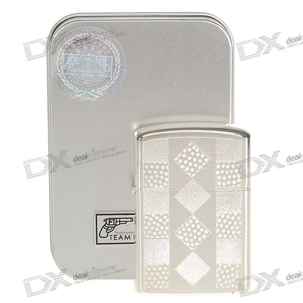 Gentle Oil Lighter with Protective Steel Case