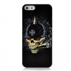 XK-cooku XK5-022 Embossed Skull with Helmet Pattern Plastic Case for Iphone 5