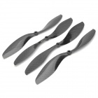 10 x 4.7 Carbon Fiber CW / CCW Propellers for Multi-axis R/C Airplane - Black (2 Pairs)