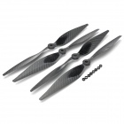 13 x 6.5 Carbon Fiber CW / CCW Propellers for Multi-axis R/C Airplane - Black (2 Pairs)