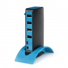 10-Port USB 2.0 Hub w/ Docking - Black + Blue