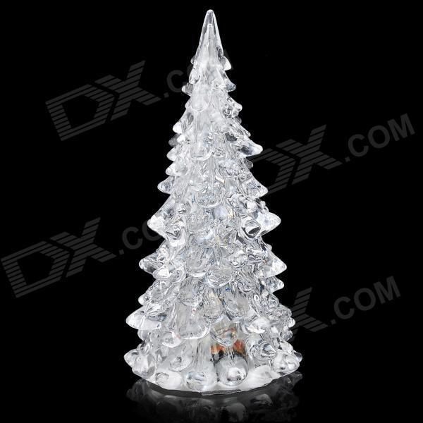 Creative RGB Color Changing 3-LED Crystal Effect Christmas Tree - Transparent (3 x LR1130)