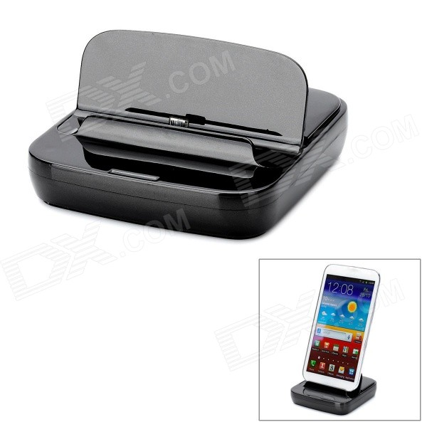 Charging Dock Station for Samsung Galaxy Note 2 N7100 - Black mhl docking station for samsung galaxy note i9220 black silver