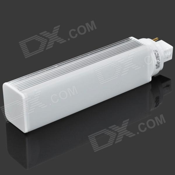 G24 11W 6500K 897lm SMD 3014 72-LED White Light Lamp - White + Silver (AC 90~264V)