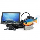 "GSY8000ADVR 7"" TFT Underwater Fish Finder Video Camera DVR Standard Set w/ 20m Cable - Black"