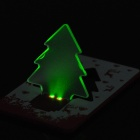 Card Style Christmas Tree Pattern 2-LED Green Light Decoration Lamp - Red + White