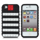 Protective Silicone Case w/ Free Combination Magic Beans for iPhone 4 / 4S - Black