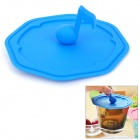 WL007 Music Note Style Silicone Leakage Proof Cup Cover Lid - Blue