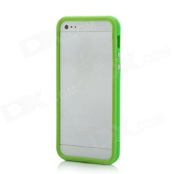 Protective Plastic + TPU Bumper Frame for Iphone 5 - Green