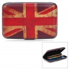 WL005 Classic UK Flag Pattern Aluminum Card Storage Case - Crimson