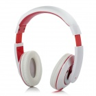Kanen iP-780 Stereo Headphone w/ Microphone - White + Red (3.5mm jack / 150cm)