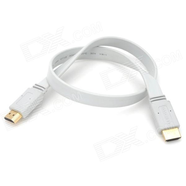 1080P HDMI 1.4 Male to Male Support 3D Function Cable - White (44cm)