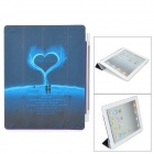 Super Thin Matte PU-Leder Smart Cover für iPad 2 / The New iPad - Deep Blue