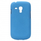 TEMEI Quicksand Protective PC Back Case for Samsung Galaxy S3 Mini i8190 - Blue