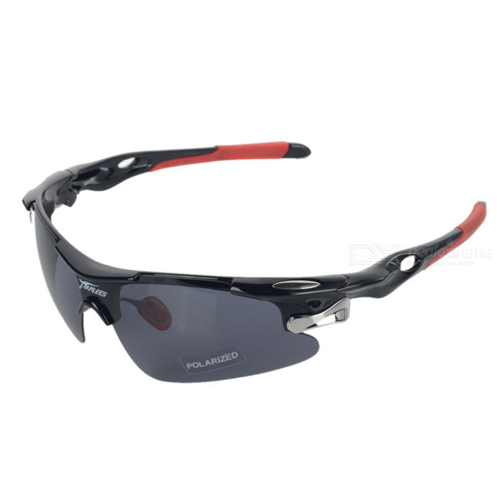 PANLEES D548 Polarized Riding Golf Goggles w/ Replacement Lenses - Black