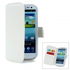 ALIS Lychee Pattern Protective PU Leather Case for Samsung Galaxy S3 i9300 - White