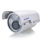 "XUYING TS-958C 1/3"" CCD Water Resistant Surveillance Camera w/ 9-LED IR Night Vision - Silver"