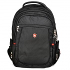 "SWISSKING S007 Protective Polyester Backpack Bag for 15"" Laptop Notebook - Black"